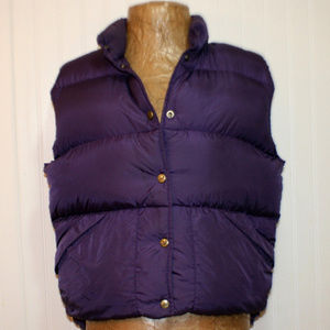 L. L. Bean Purple Medium Puffer Vest